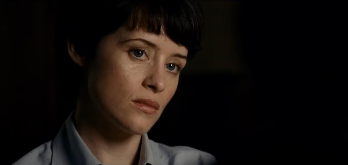 Claire Foy gives accusatory look