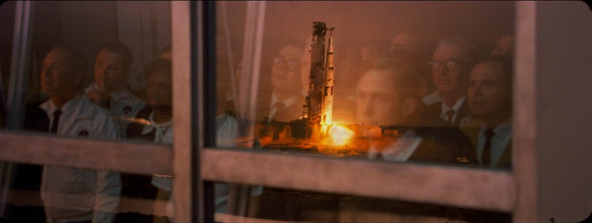 The Gemini rocket team watch lift-off