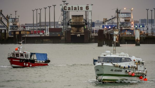Fishing boats leave Calais.