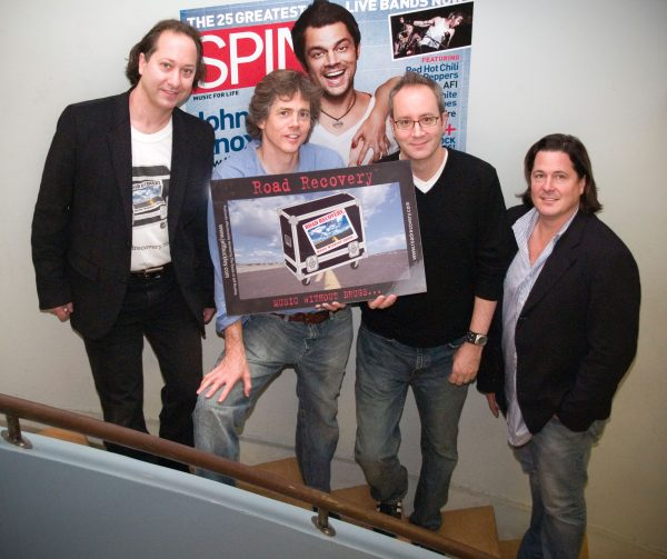 Jack Bookbinder and Gene Bowen (L) with Spin Magazine executives