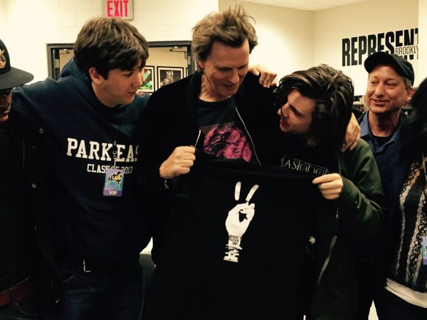 Mike (R) with John Taylor from Duran Duran