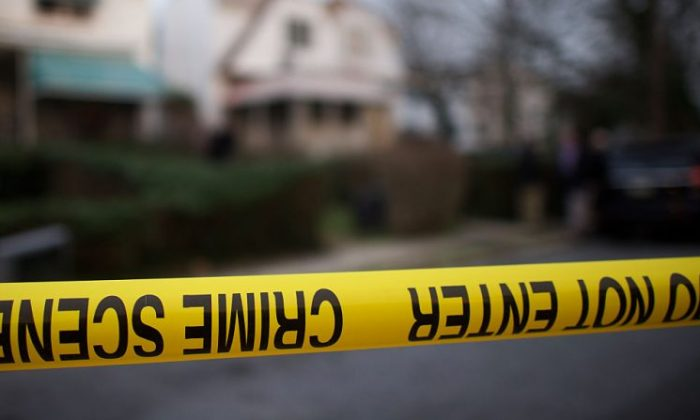 A stock photo of police tape (Mark Makela/Getty Images)