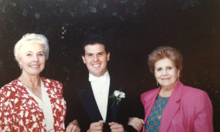 Richard Sandoval with his grandmothers. (Courtesy of Richard Sandoval)
