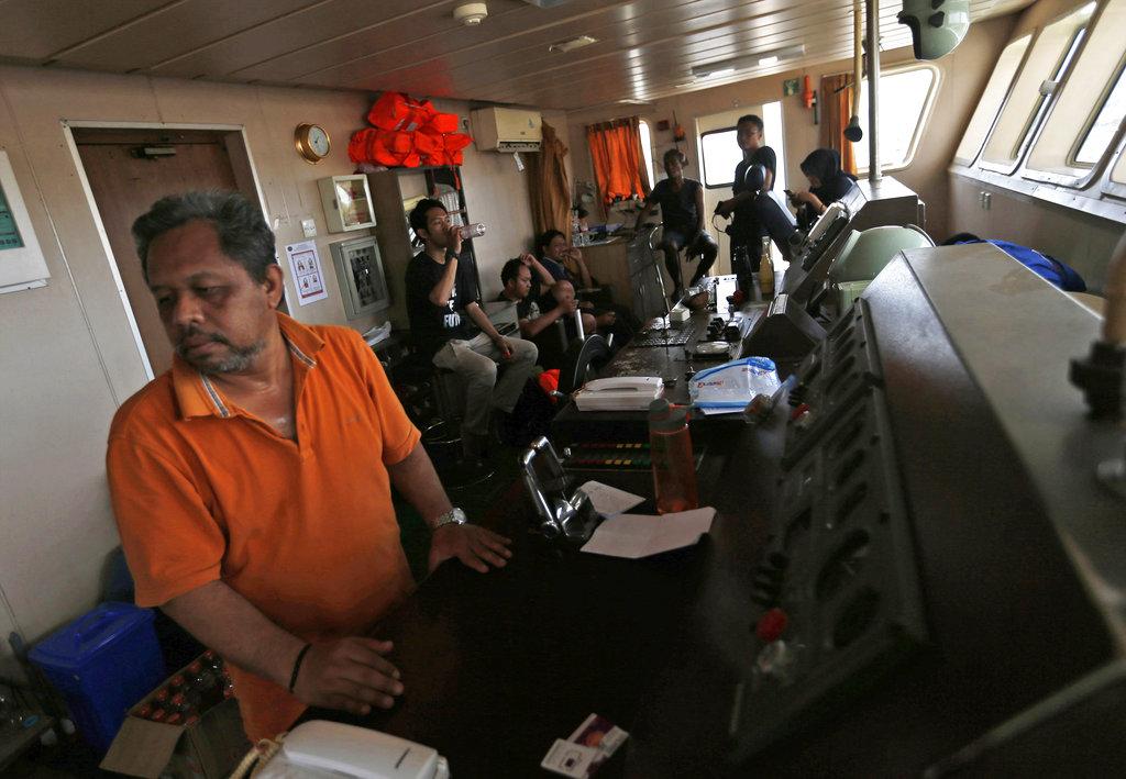 crew members on ferry Sabuk Nusantara 39