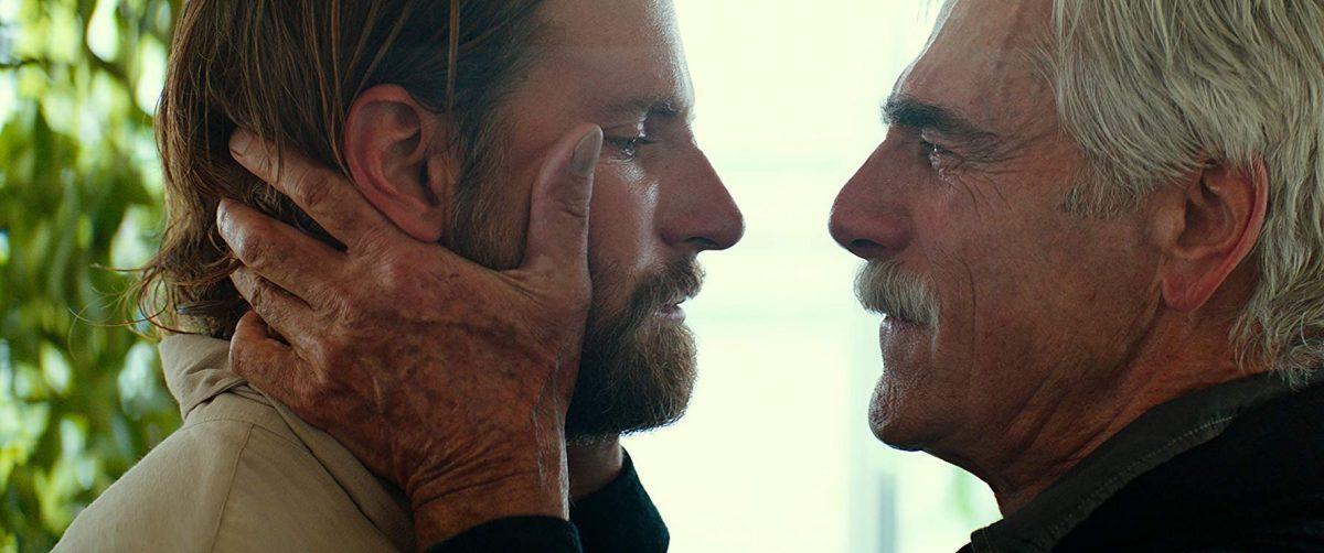 Bradley Cooper and Sam Elliott share a moment