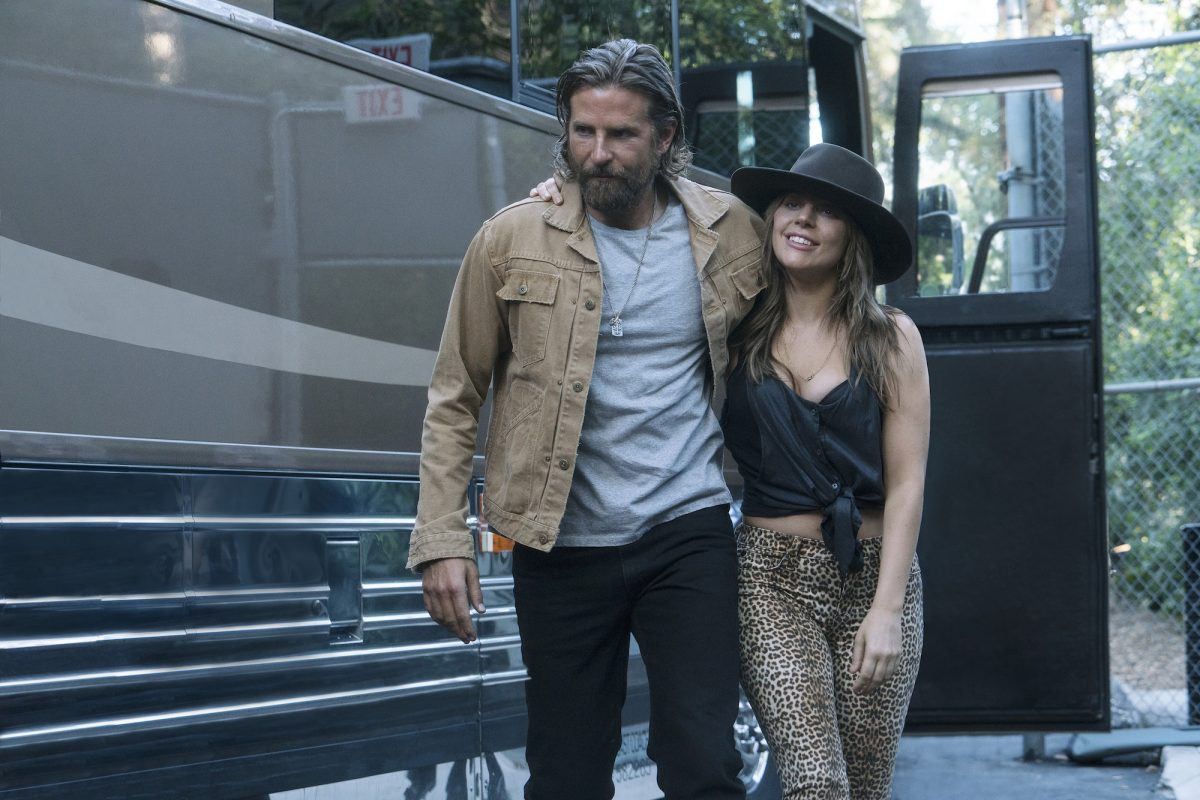 Lady Gaga in hat and leopardskin pants