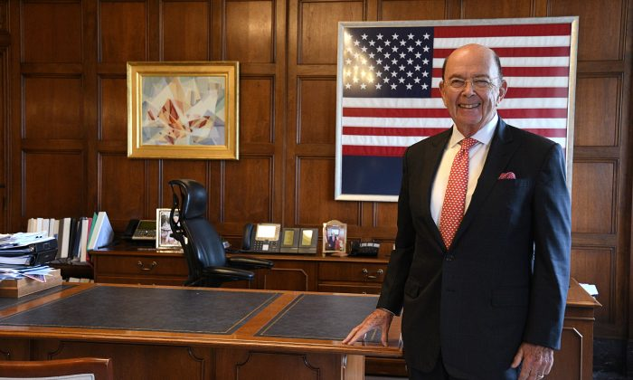 U.S. Secretary of Commerce Wilbur Ross poses in his office during an interview with Reuters at the U.S. Department of Commerce building in Washington, U.S., on Oct. 5, 2018. (Mary F. Calvert/Reuters)