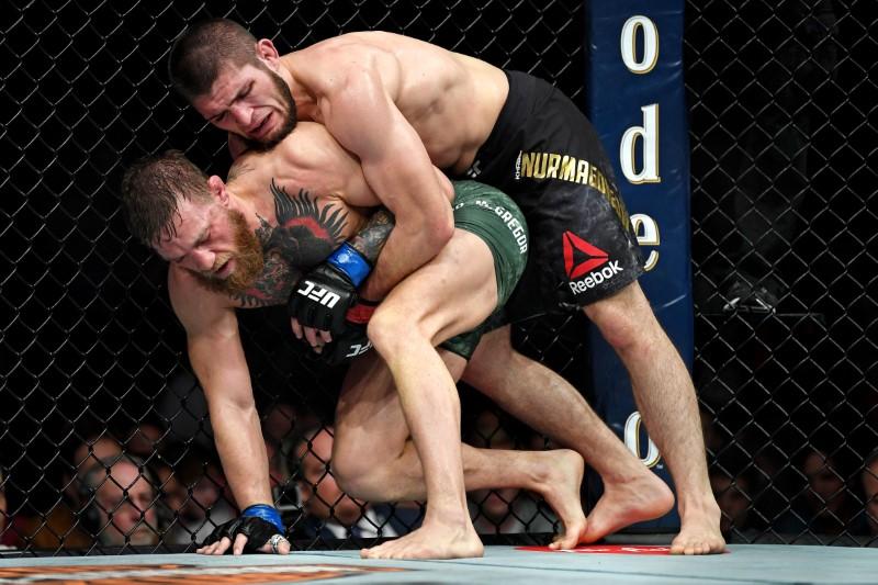 McGregor and Nurmagomedov at UFC 229