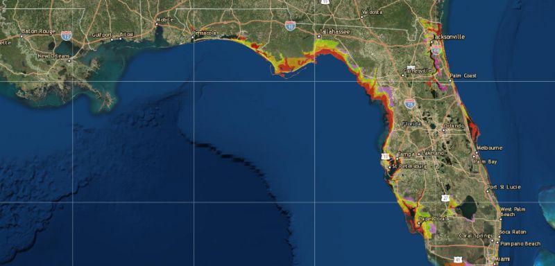 hurricane evacuation order map