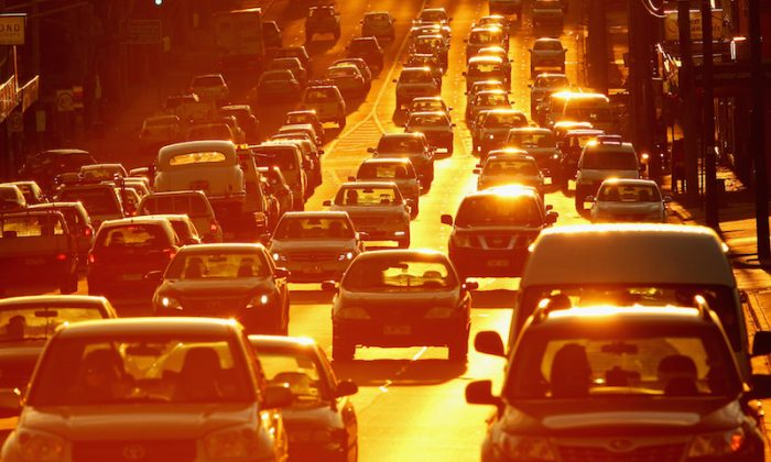 Rush hour traffic in Melbourne, Australia, on May 13, 2014. (Scott Barbour/Getty Images)