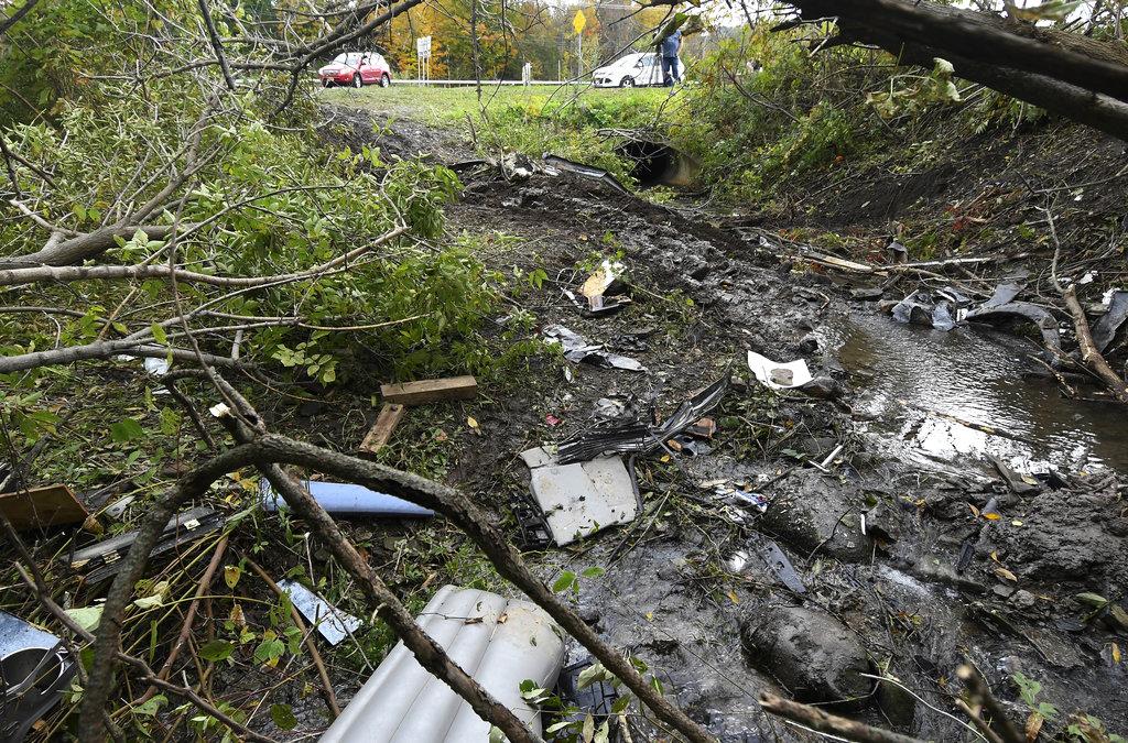 Limousine crash site in New York