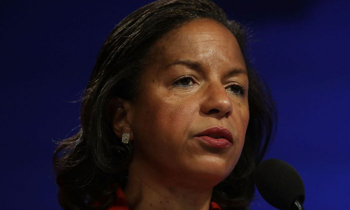 Susan Rice participates in a discussion Oct. 14, 2016, at the Woodrow Wilson Center in Washington. (Alex Wong/Getty Images)