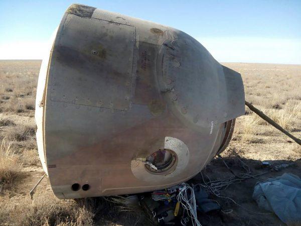 view capsule transporting cosmonaut Hague