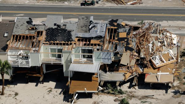 Homes destroyed Hurricane Michael aerial