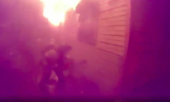 Trapped Man Sticks Hand Out of House on Fire: Dramatic Rescue Footage