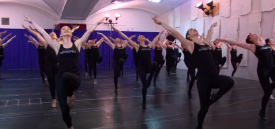 The Radio City Rockettes Rehearse for New Christmas Spectacular Finale
