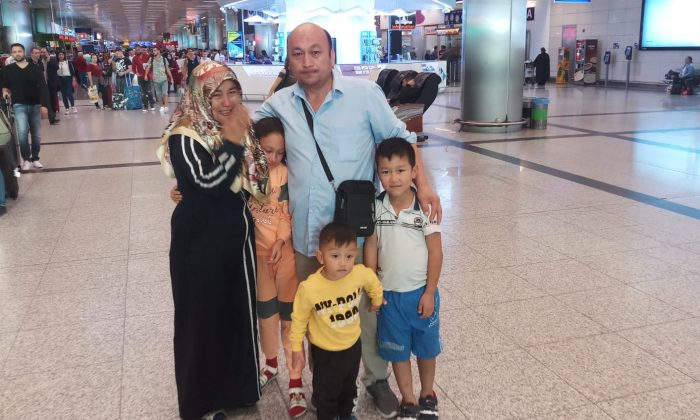 Xinjiang-born Omir Bekli, 42, reunited with his family after almost eight months detention in Xinjiang, China. (Supplied)