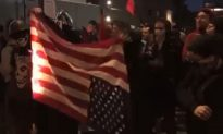 Antifa Burns American Flag in Portland Brawl; Someone Saves It From Flames