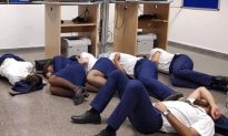 Photo of Stranded Crew Sleeping on Airport Floor is Staged, Says Airline
