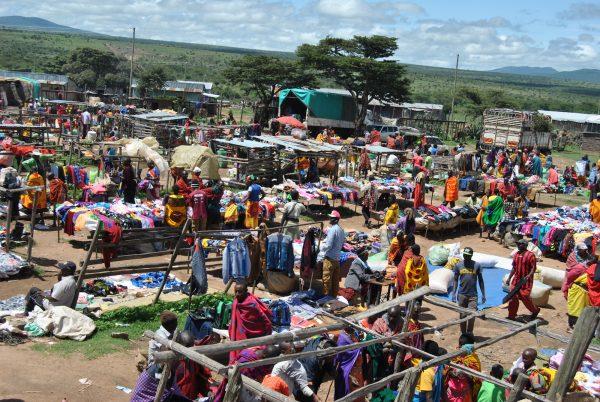 The Naikarra market in Narok County, Kenya.