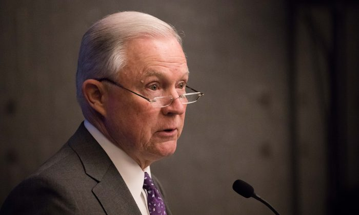 Attorney General Jeff Sessions in Washington on May 3, 2018. (Samira Bouaou/The Epoch Times)