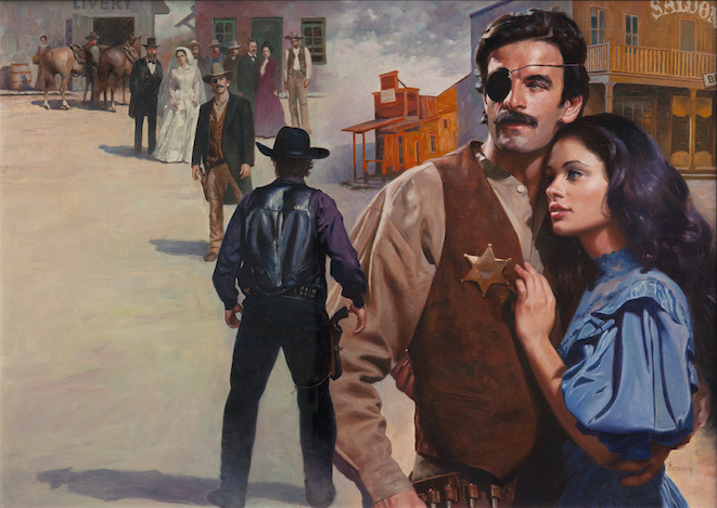 """Lawman,"" 1992, by Max Ginsburg. Oil, 22 inches by 31 inches. (Courtesy of Tim Newton)"