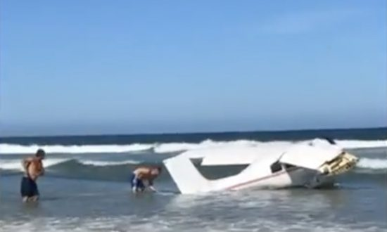 Plane Crashes in the Ocean at Daytona Beach Shores After Running Out of Fuel