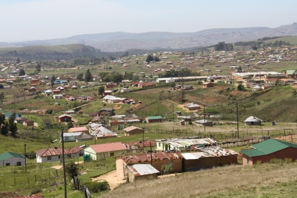 The village of Vulindlela on the eastern coast of South Africa.