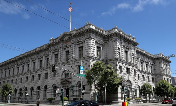 A view of the Ninth U.S. Circuit Court of Appeals in San Francisco, California on June 12, 2017. (Justin Sullivan/Getty Images)