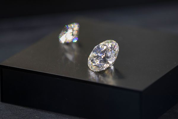 Diamonds are displayed during the International Diamond Week (IDW) in the Israel.