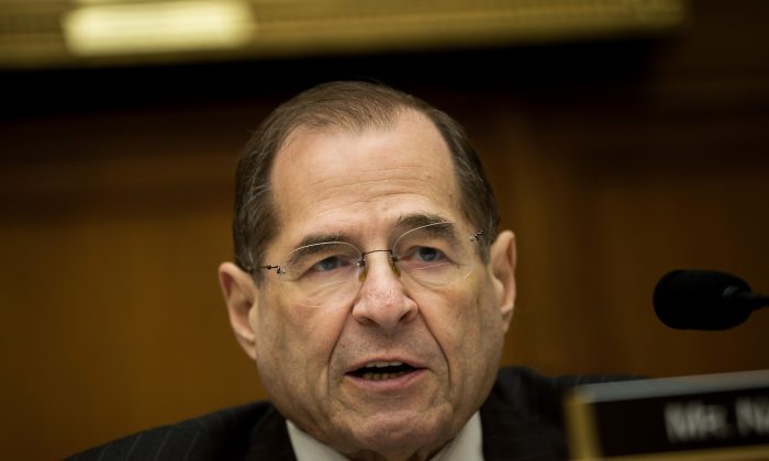 Rep. Jerrold Nadler (D-New York) speaks during a House Judiciary Subcommittee hearing on Feb. 27, 2018 in Washington, DC. Nadler is in line to become the new chairman of the Judiciary Committee. (Drew Angerer/Getty Images)