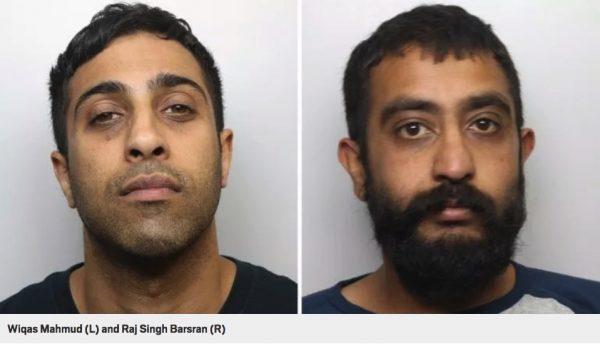 grooming gang convicts Left: Wiqas Mahmud (Vic). Right: Raj Singh Barsran (Raj).
