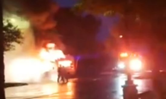 Texas School Bus Burns, No One Injured