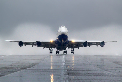 "The Boeing 747 was the first wide-body ""jumbo jet"" ever built, involving about 50,000 construction workers, mechanics, and engineers. (Shutterstock)"