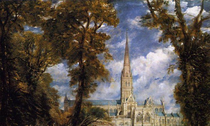"""Salisbury Cathedral,"" circa 1825, by John Constable. (Public Domain)"