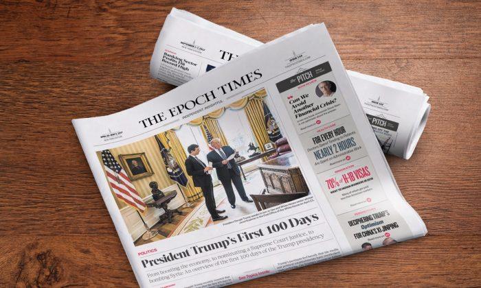 The Epoch Times newspaper.