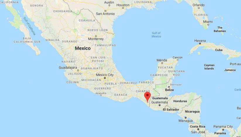 Huixtla Mexico Map
