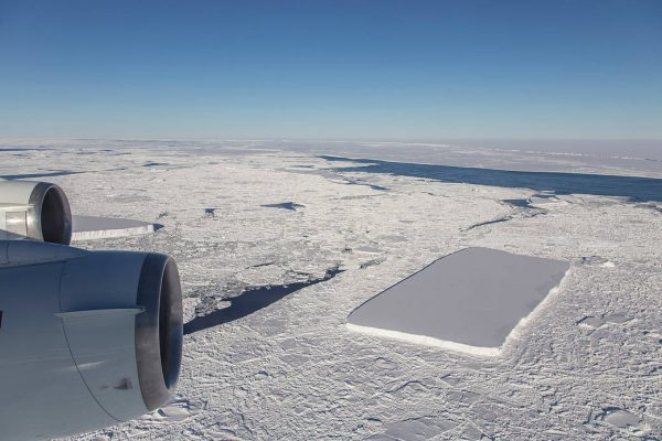 This perfectly rectangular mile-long iceberg was discovered floating in the Antarctic