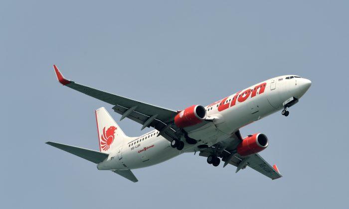 Lion Air plane in flight