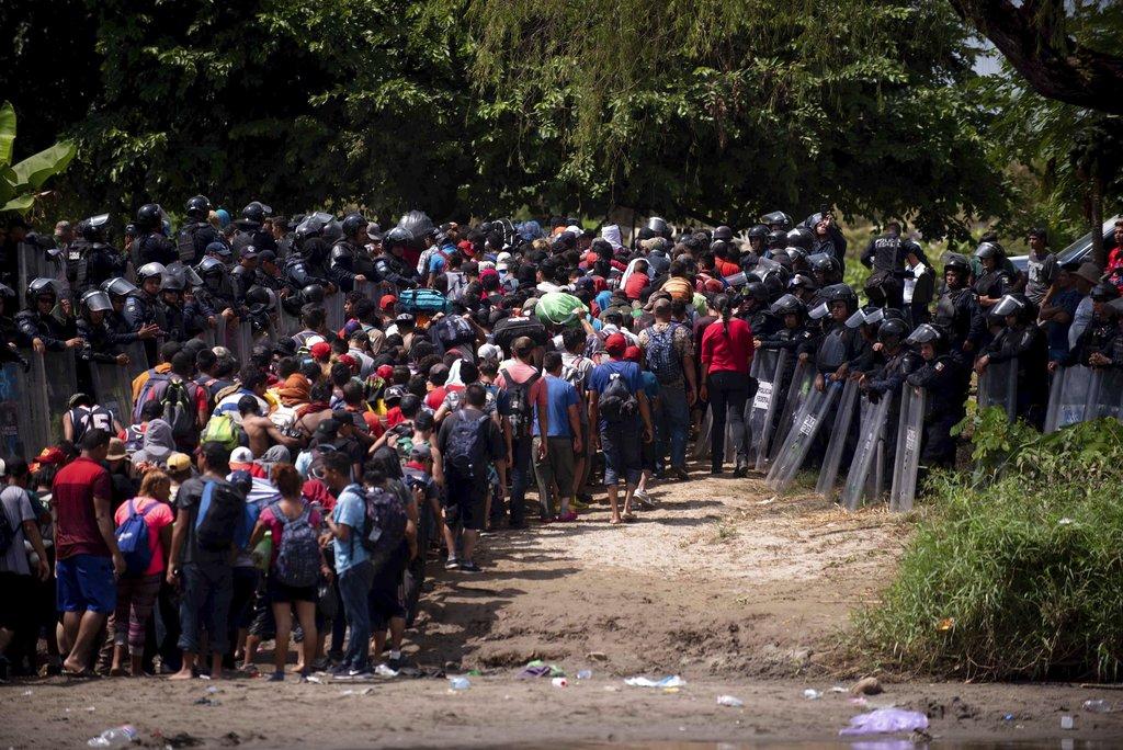 Third migrant caravan starts as second caravan gets violent