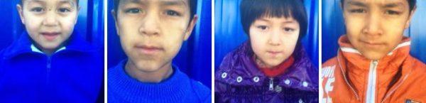 Abdukadir's four children after 17 days in kindergarten