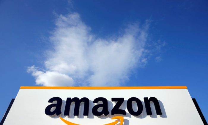 The logo of Amazon is seen at the company logistics centre in Boves, France, August 8, 2018.  Picture taken August 27, 2018.    (Pascal Rossignol/File photo/Reuters)