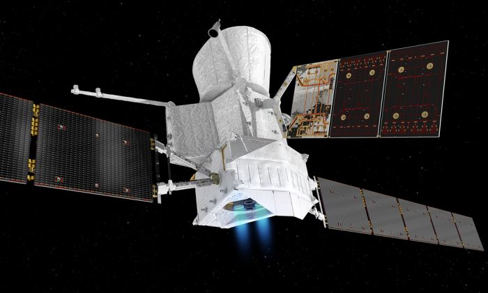 Artist's rendering of the BepiColombo space craft. (ESA/ATG Media lab)