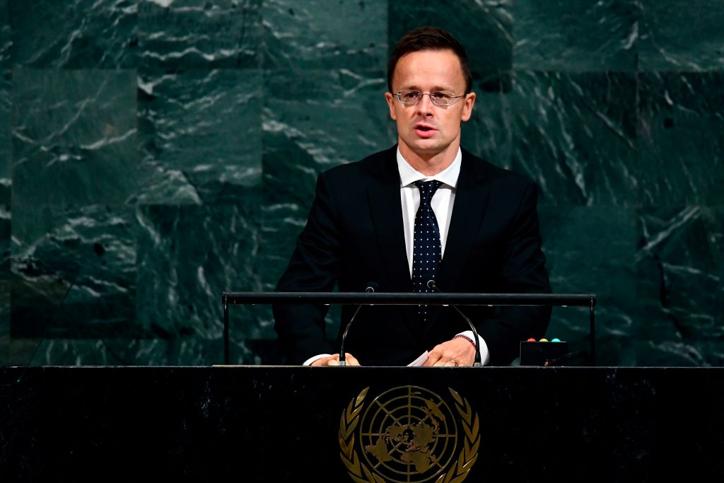 Hungary Foreign and Trade Minister Peter Szijjarto