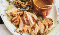 Roast Turkey Breast and Onions with Mustard and Sage