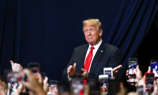 President Donald Trump at a Make America Great Again rally in Chattanooga, Tenn., on Nov. 4, 2018. (Charlotte Cuthbertson/The Epoch Times)