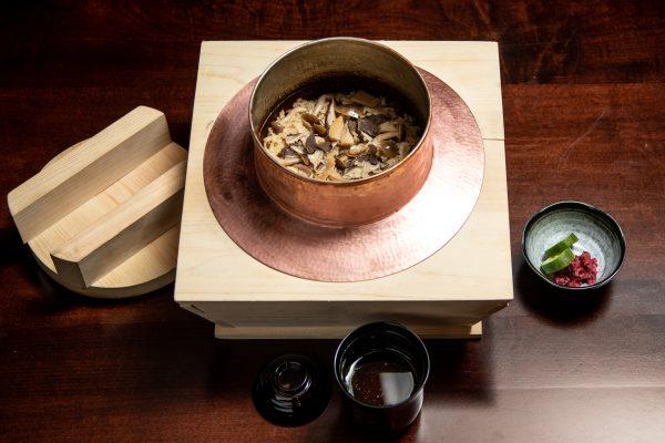 Matsutake rice and miso soup kaiseki course at Suzuki