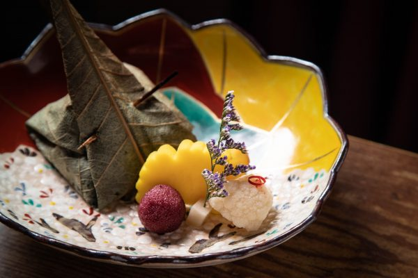 Yakimono kaiseki course with hoba grilled wagyu at Suzuki