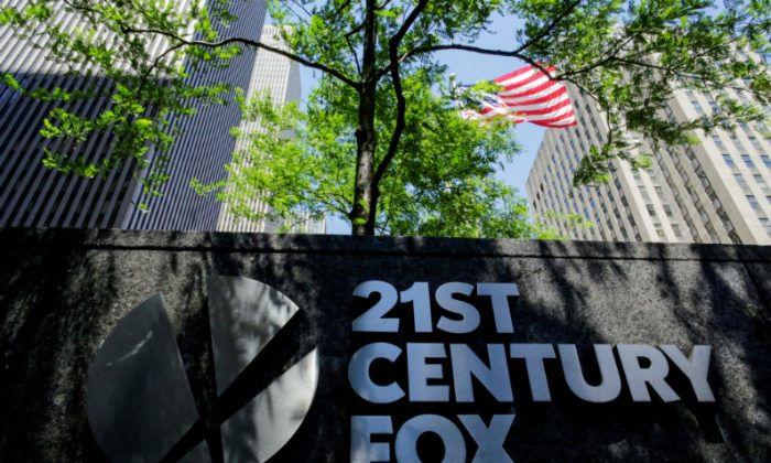 The 21st Century Fox logo is displayed outside the News Corporation building in the Manhattan borough of New York City, New York, on June 15, 2018. (Eduardo Munoz/File Photo/Reuters)