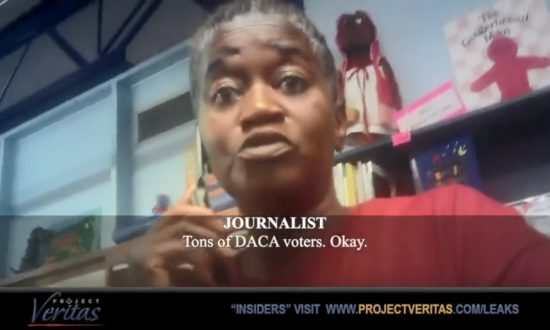 Person in a Project Veritas video identified as Texas poll worker Pam Nash. (Screenshot via Youtube/Project Veritas)